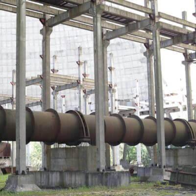 Chernobyl Abandoned Cooling Tower inside