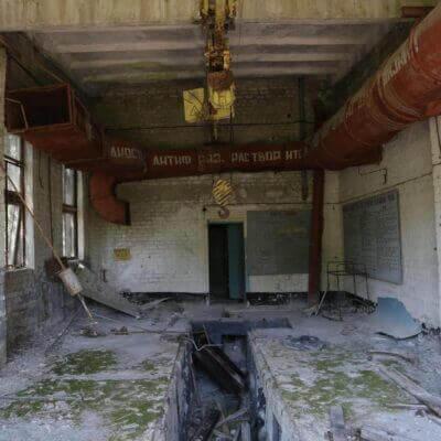 Chernobyl Duga Building inside
