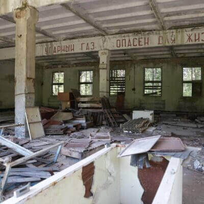 Chernobyl Duga Building inside-5