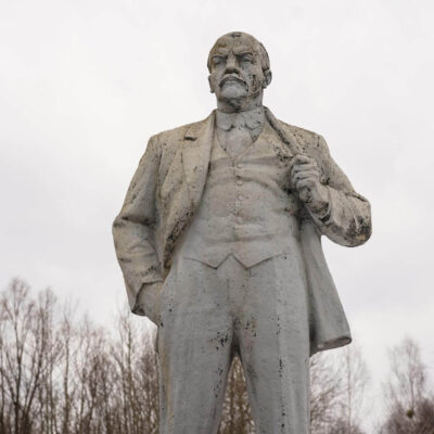 Lenin statue in Chernobyl
