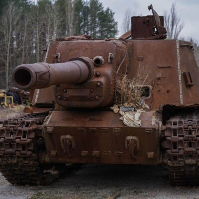 TANK IN CHERNOBYL GRAVEYARD OF THE VEHICLES