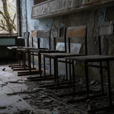 chairs in pripyat school