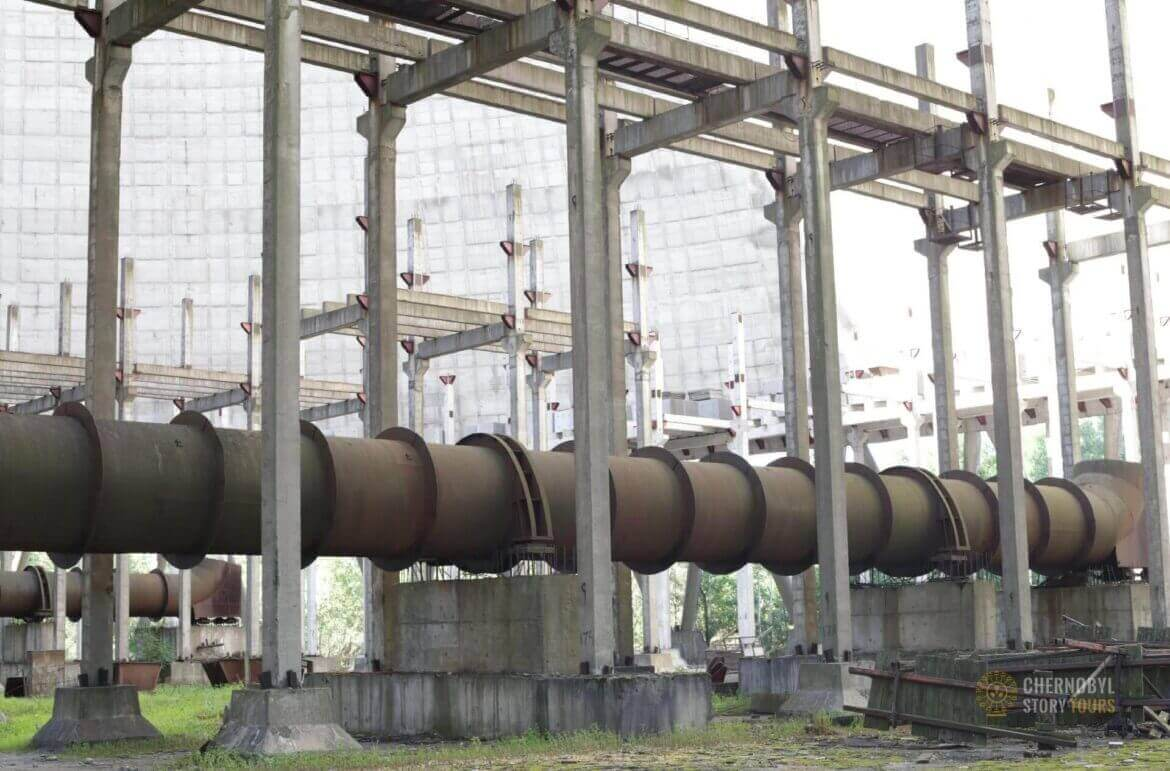 Chernobyl Abandoned Cooling Tower inside