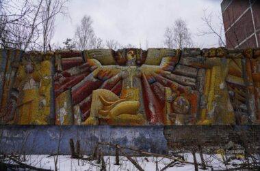 MOSAICS ALONG THE MAIN AVENUE IN PRIPYAT 3