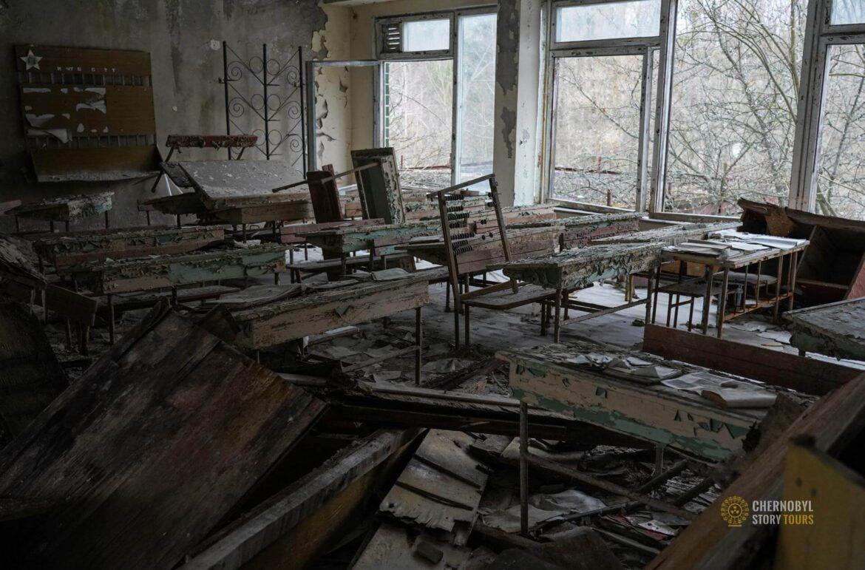 classroom in prypiat school