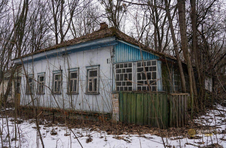 houses in ZALISSYA VILLAGE IN CHERNOBYL